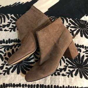 Steve Madden Taupe Suede Bootie